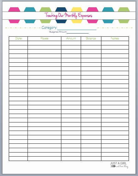 Free Monthly Expenses Template Inspirational the 2018 Bud Binder