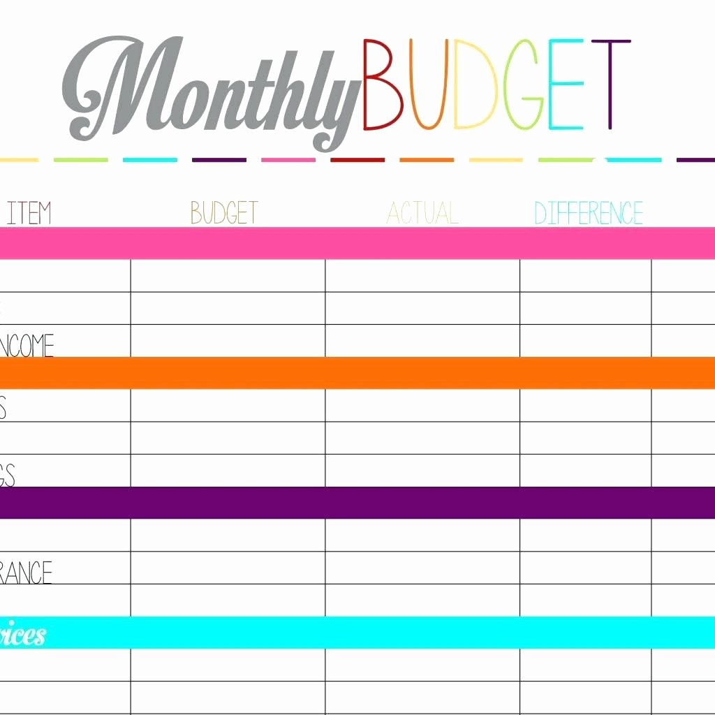 Free Monthly Expenses Template Lovely Template Business Monthly Bud Template