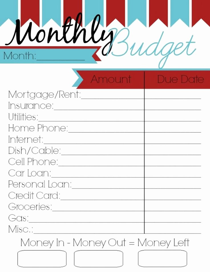 Free Monthly Expenses Template Unique Monthly Bud Printable Woman Of Many Roles