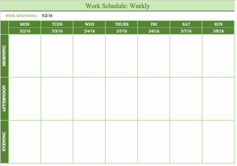 Free Monthly Work Schedule Template Beautiful Bi Weekly Schedule Template
