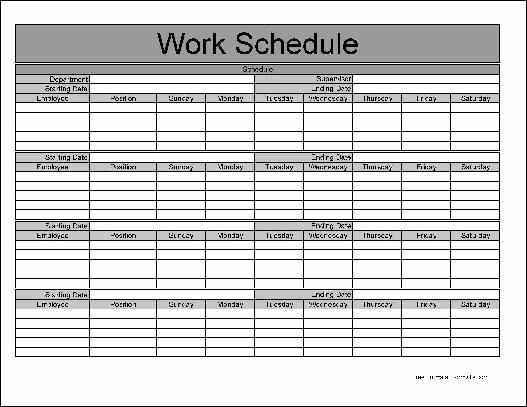 Free Monthly Work Schedule Template Best Of Free Basic Monthly Work Schedule From formville