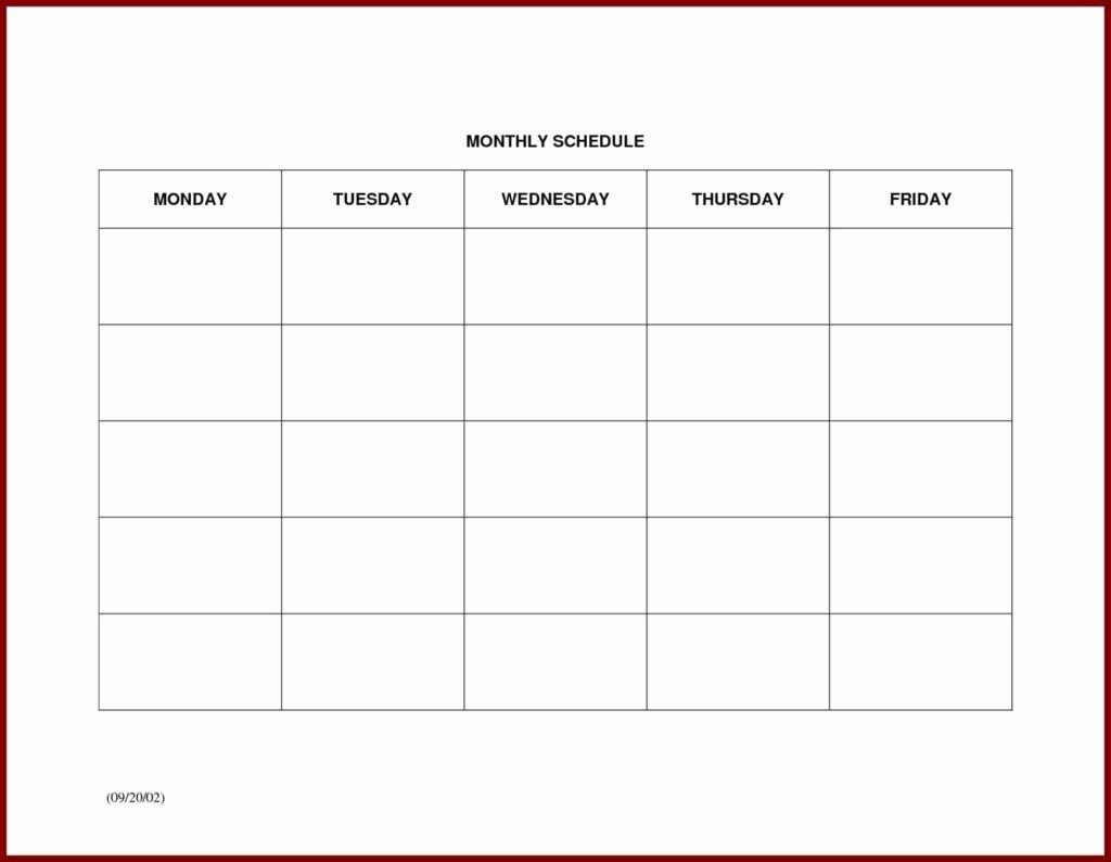 Free Monthly Work Schedule Template Elegant Monthly Work Schedule Template Free Example Of Spreadshee