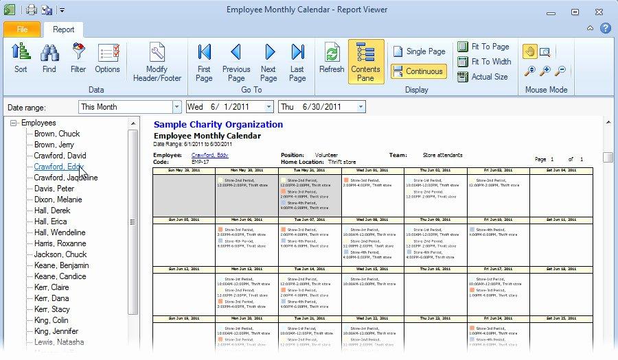 Free Monthly Work Schedule Template Fresh Monthly Employee Schedule Template Excel Schedule