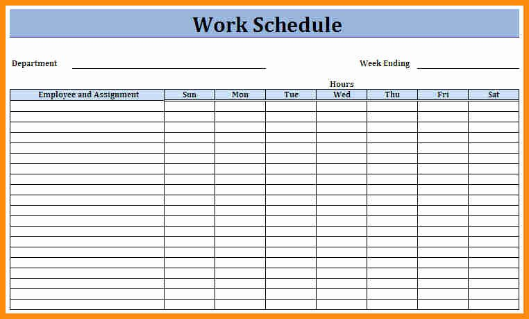 Free Monthly Work Schedule Template New Monthly Schedule Template