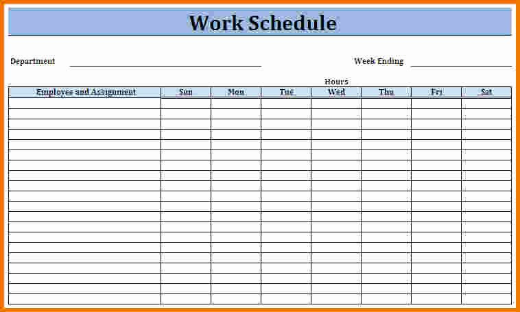 Free Monthly Work Schedule Template New Work Schedule Template Weekly Schedule