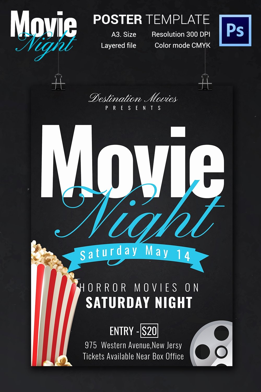 Free Movie Night Flyer Template Awesome Movie Night Flyer Template 25 Free Jpg Psd format