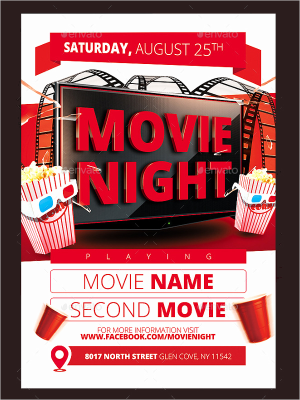 Free Movie Night Flyer Template Beautiful 52 Movie Flyer Designs Free Psd Word Templates