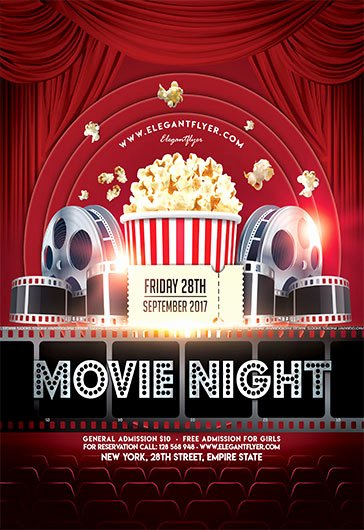 Free Movie Night Flyer Template Beautiful Friday Night Light Movie Template – by Elegantflyer