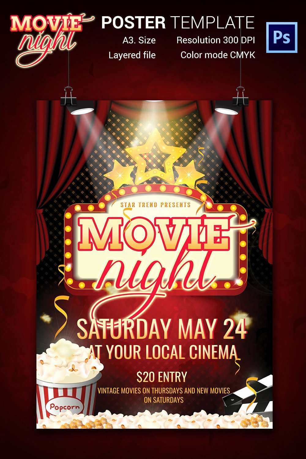 Free Movie Night Flyer Template Beautiful Movie Night Flyer Template 25 Free Jpg Psd format