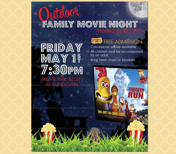 Free Movie Night Flyer Template Best Of 19 Movie Night Flyer Templates Ai Psd Word