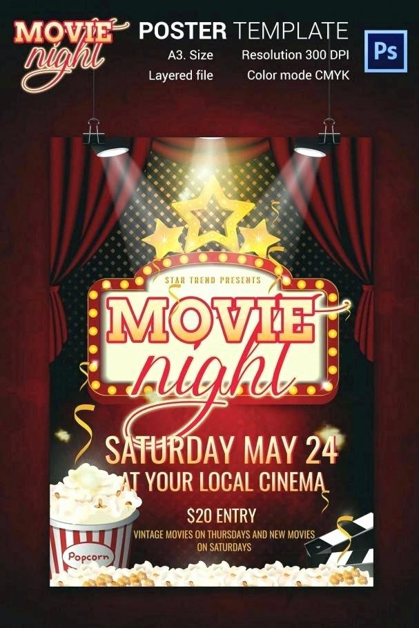 Free Movie Night Flyer Template Best Of Free Movie Night Flyer Template Fresh Vintage Poster
