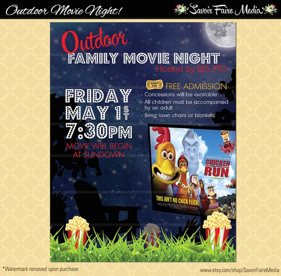 Free Movie Night Flyer Template Best Of Outdoor Movie Night Flyer Template