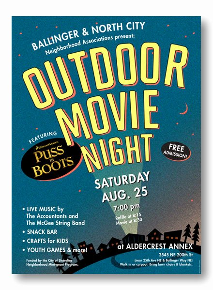 Free Movie Night Flyer Template Elegant Backyard Movie Night All for the Garden House Beach