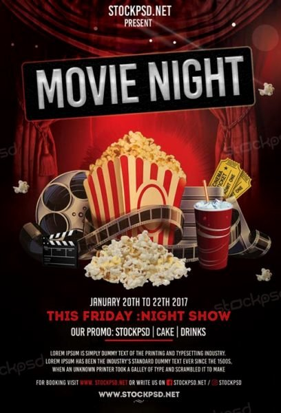 Free Movie Night Flyer Template Elegant Movie Night Free Flyer Template Download Flyer Templates