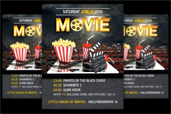 Free Movie Night Flyer Template Inspirational 17 Movie Night Flyer Templates