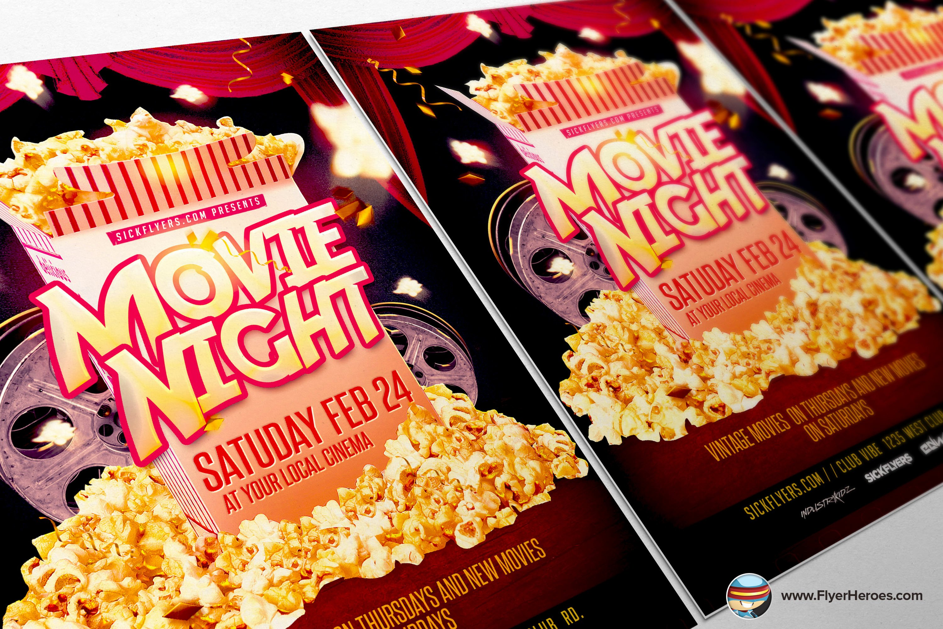 Free Movie Night Flyer Template Inspirational Movie Night Flyer Template Flyer Templates On Creative