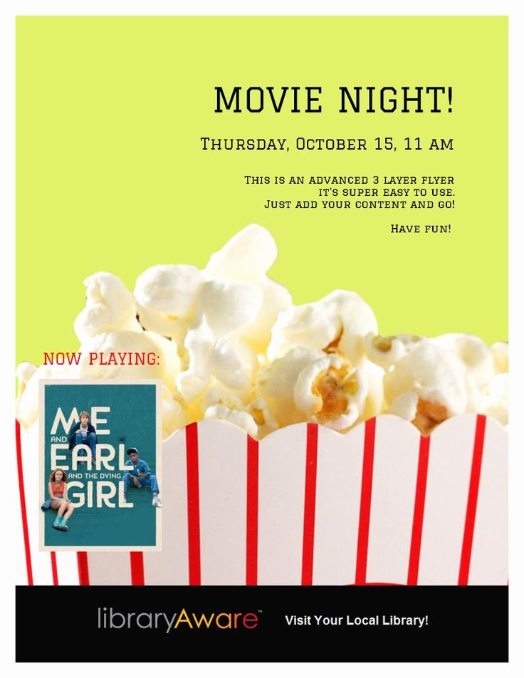 Free Movie Night Flyer Template Inspirational Movie Night Flyer Template Library Ideas