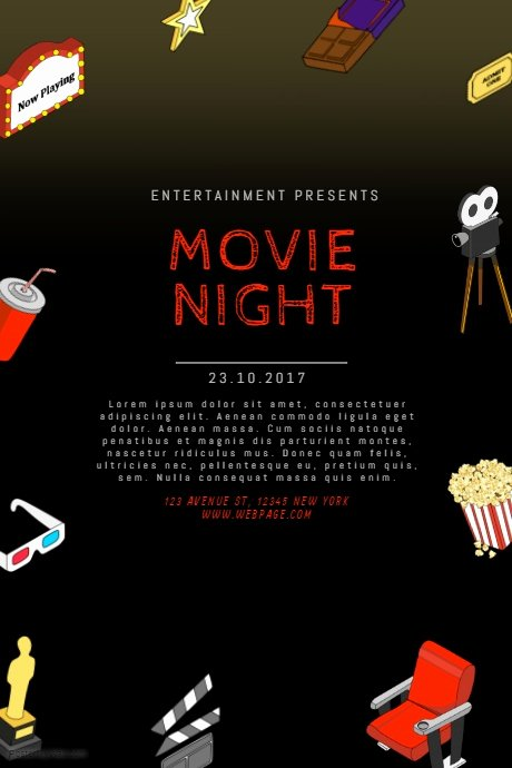 Free Movie Night Flyer Template Inspirational Movie Night Flyer Template