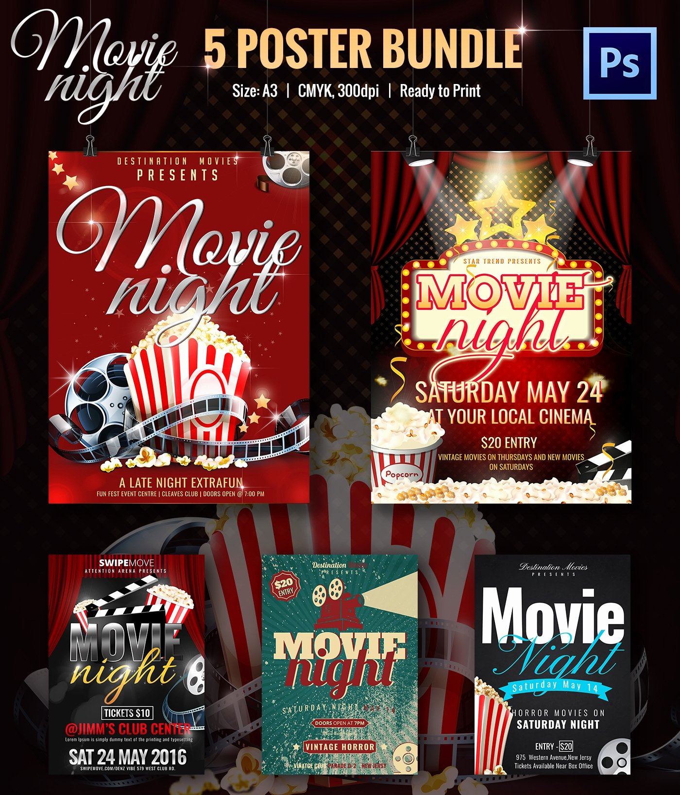Free Movie Night Flyer Template Lovely Movie Night Flyer Template 25 Free Jpg Psd format
