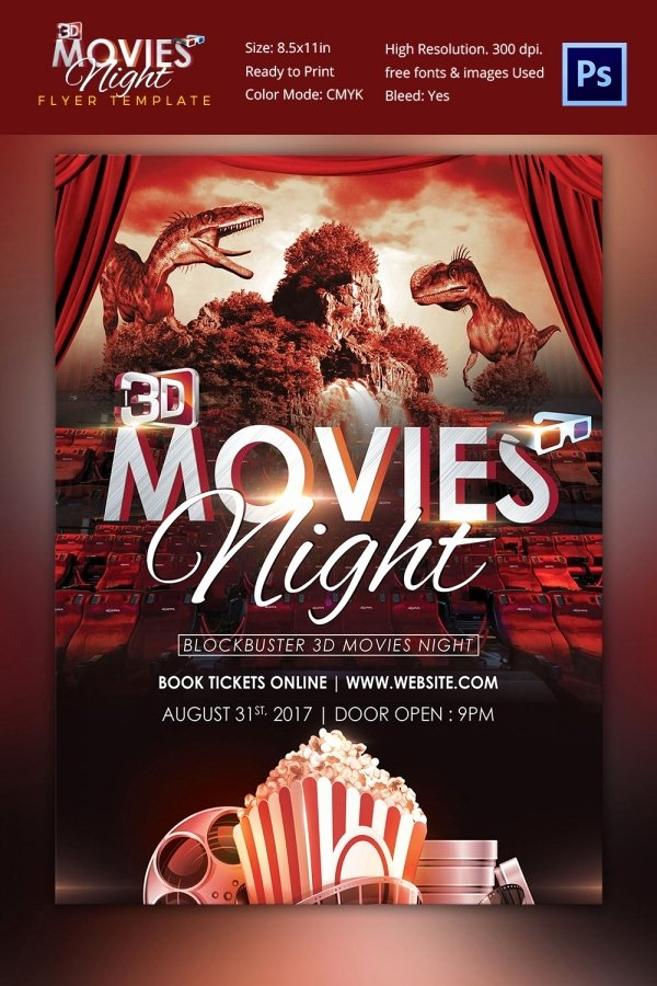 Free Movie Night Flyer Template Lovely Movie Poster Templates – 44 Free Psd format Download