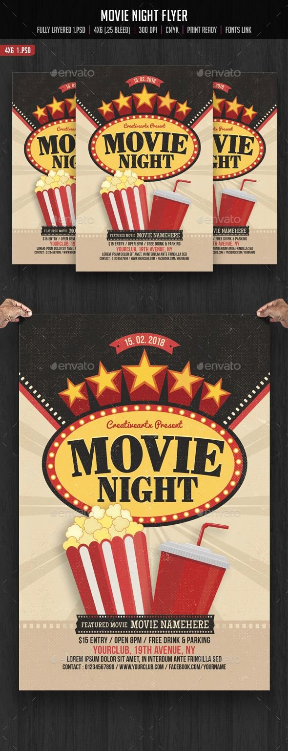 Free Movie Night Flyer Template Luxury 17 Best Images About Flyers Posters On Pinterest