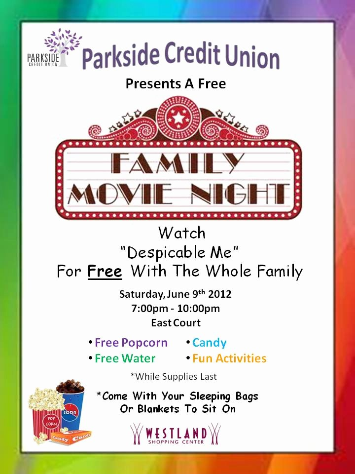Free Movie Night Flyer Template Luxury 7 Best Of Printable Movie Night Flyer Template