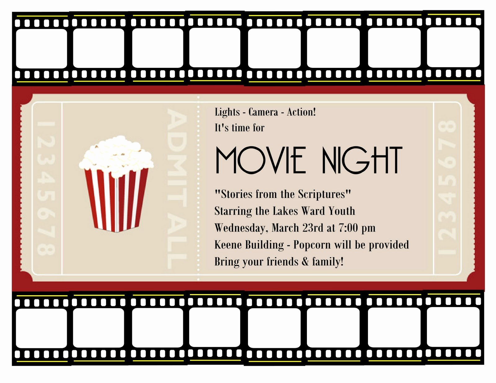 Free Movie Night Flyer Template Luxury A Place for the Lady Good Times at Church