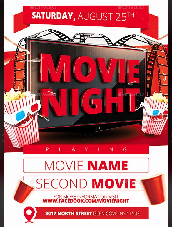 Free Movie Night Flyer Template New Movie Night Flyer Template 20 Free Jpg Psd format