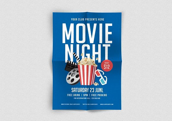 Free Movie Night Flyer Template New Outdoor Movie Night Flyer with Grass Free Template