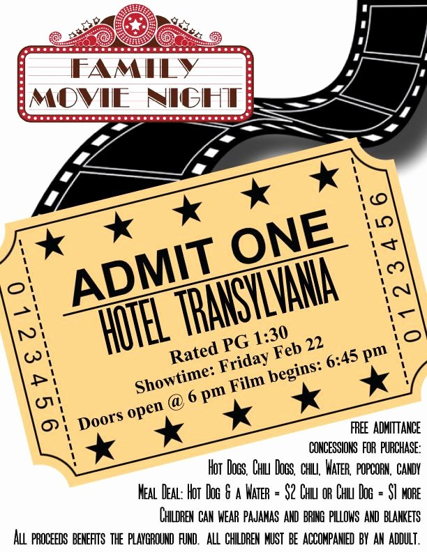 Free Movie Night Flyer Template Unique Pta Movie Night Flyer Template