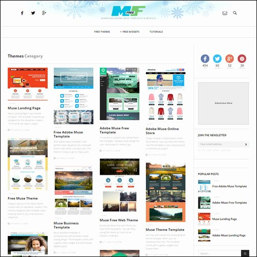 Free Muse Website Template Awesome 30 Brilliant Premium and Free Adobe Muse Templates for 2017