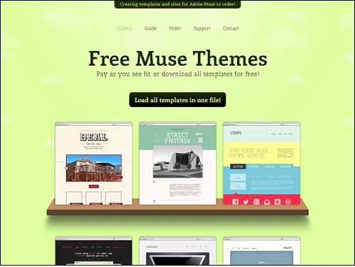 Free Muse Website Template Awesome Responsive Adobe Muse Templates & themes