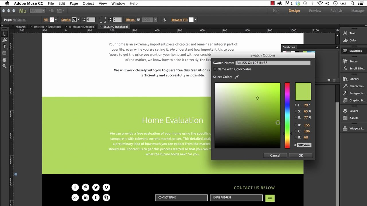 Free Muse Website Template Best Of Editing An Adobe Muse Template