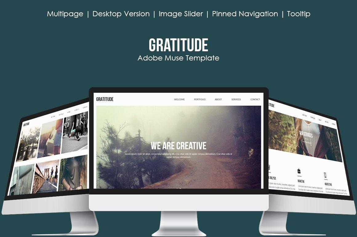 Free Muse Website Template Elegant Gratitude Muse Template Website Templates Creative Market