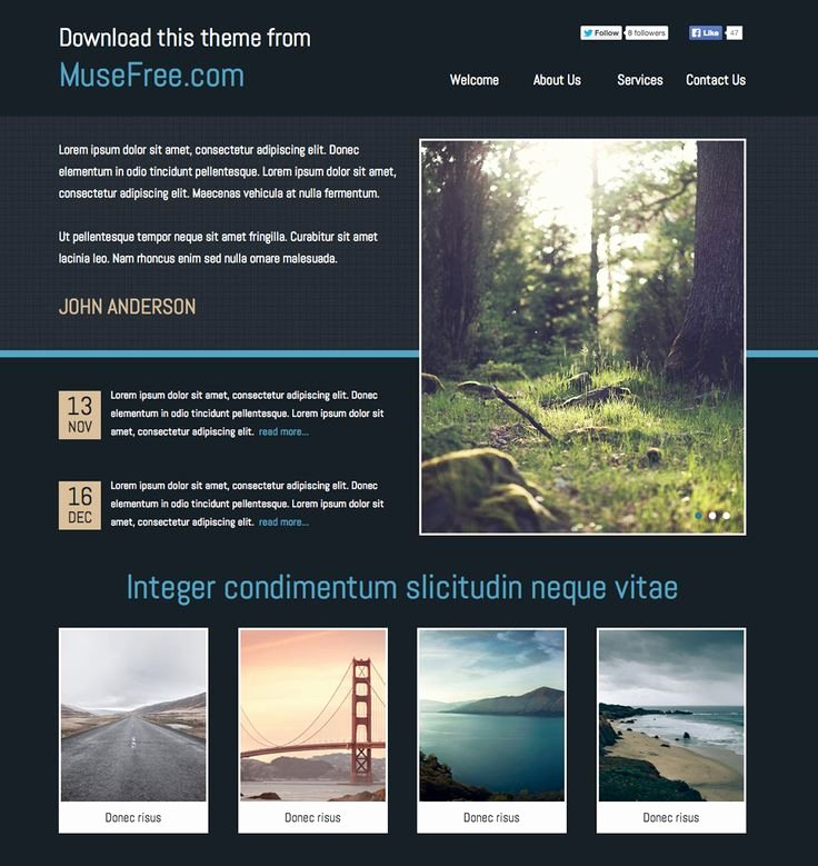 Free Muse Website Template Fresh 1000 Images About Adobe Muse Free themes On Pinterest