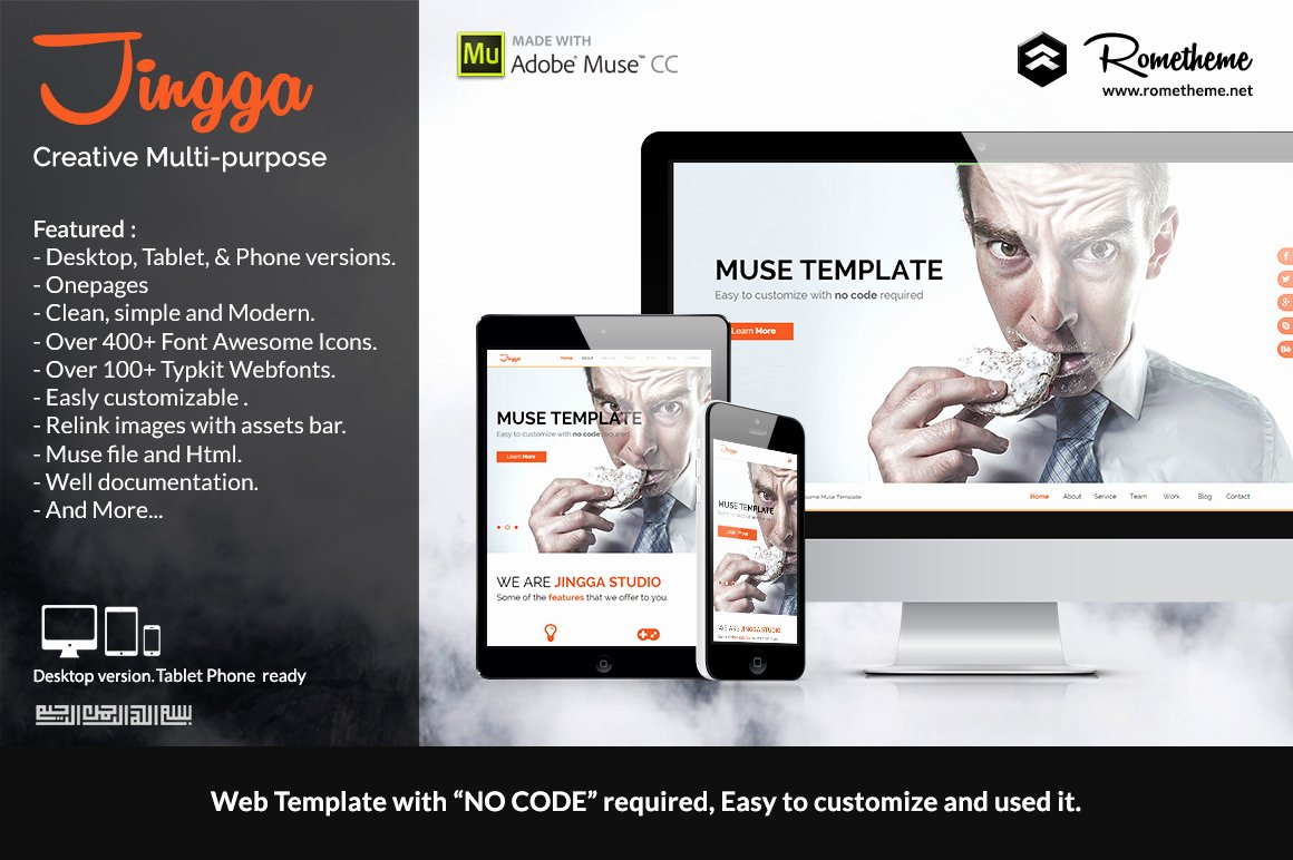 Free Muse Website Template Fresh Jingga Creative Muse Template Website Templates On