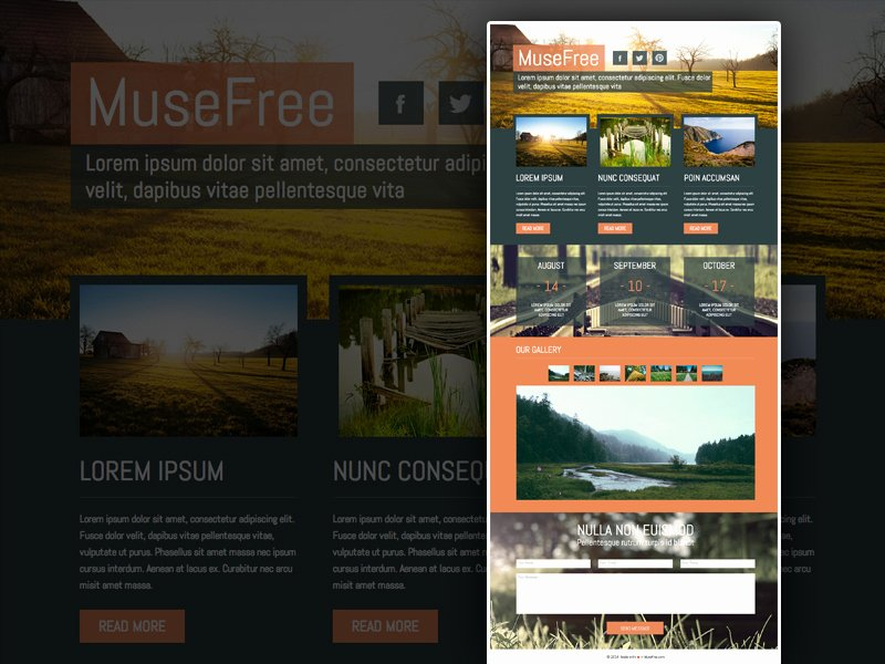 Free Muse Website Template Luxury 25 Free Muse Templates – Creative Website themes and