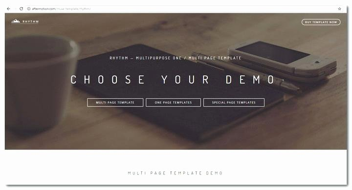 muse templates free professional portfolio