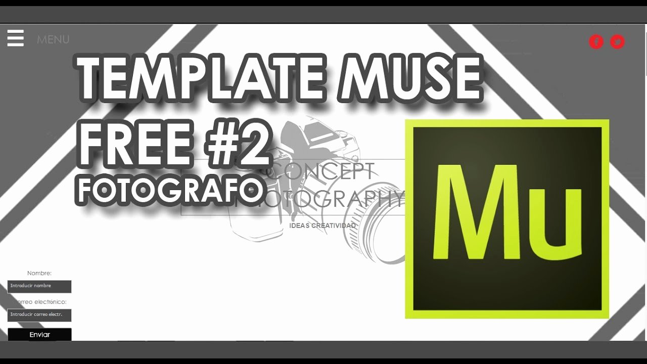 Free Muse Website Template New N° 2 Muse Template Responsive Free 2 Fotógrafo