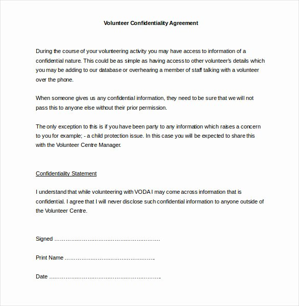 Free Nda Template Word Fresh 74 Fresh Free Printable Non Disclosure Agreement form