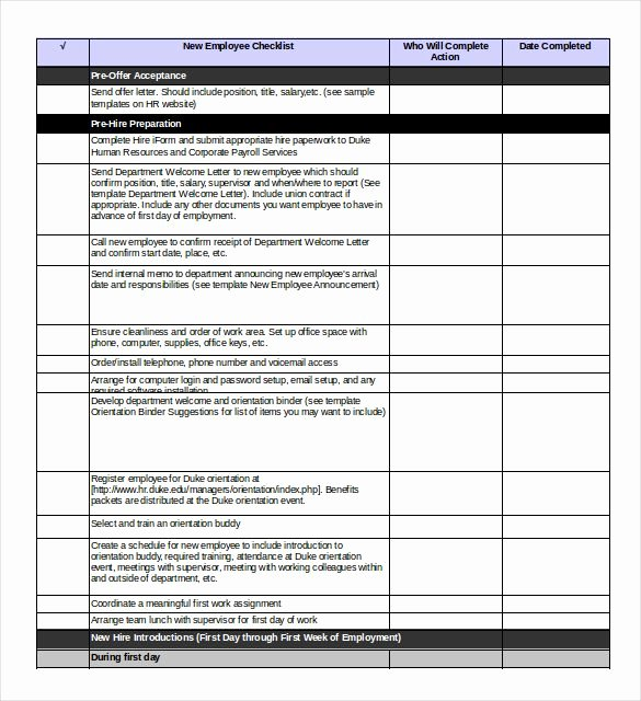 Free New Hire Checklist Template Luxury You Should Only Use An Excel Onboarding Checklist Template