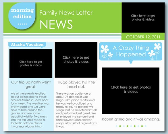 Free Newsletter Template for Publisher Awesome 7 Family Newsletter Templates – Free Word Documents