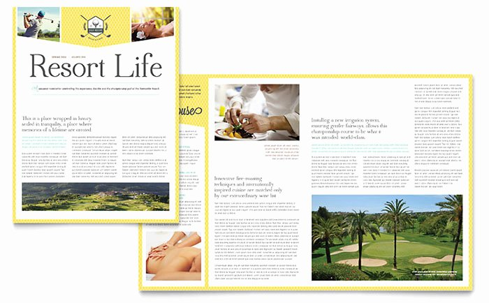 Free Newsletter Template for Publisher Unique Golf Resort Newsletter Template Word & Publisher