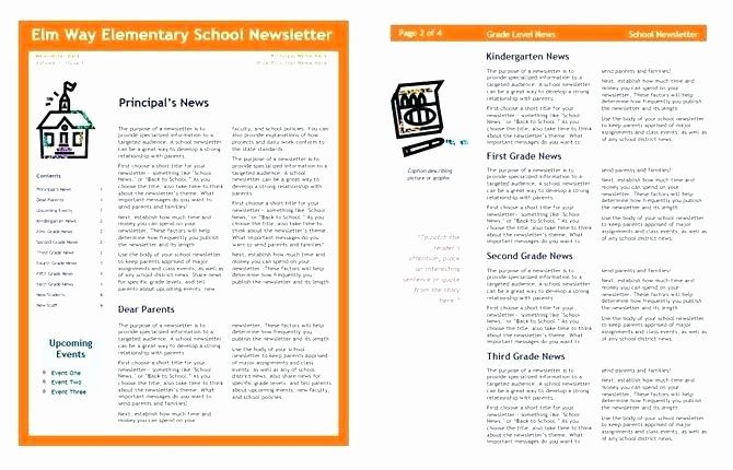 Free Newsletter Template for Publisher Unique Microsoft Publisher Newsletter Template Free Download