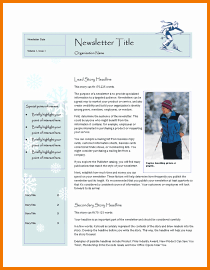 Free Newsletter Template Publisher Awesome New Microsoft Publisher Newsletter Templates Free