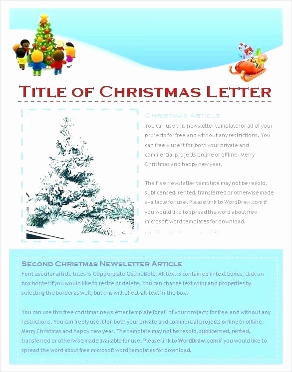 Free Newsletter Template Publisher Fresh Microsoft Fice Publisher Christmas Letter Template
