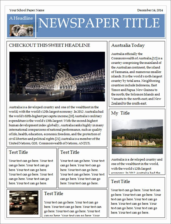 Free Newspaper Article Template Awesome 42 Amazing Newspaper Templates