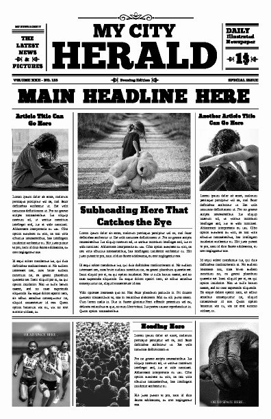 Free Newspaper Article Template Beautiful Free Newspaper Templates Print and Digital