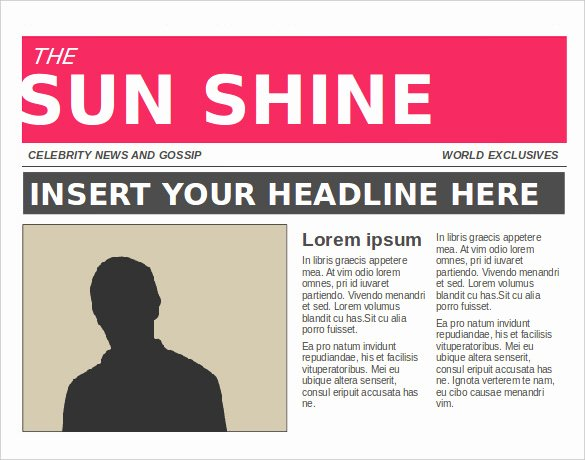 Free Newspaper Article Template Best Of 11 News Paper Templates Word Pdf Psd Ppt