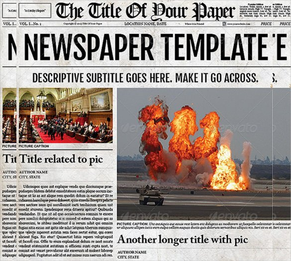 Free Newspaper Article Template Best Of 14 Old Newspaper Templates Free Sample Example format